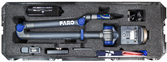 FARO Quantum<sup>s</sup> Arm as delivered packaged carefully in box available for rent